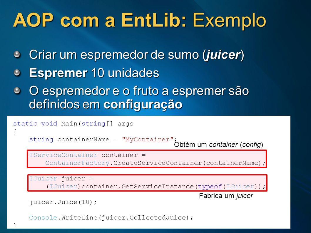 AOP com a EntLib: Exemplo