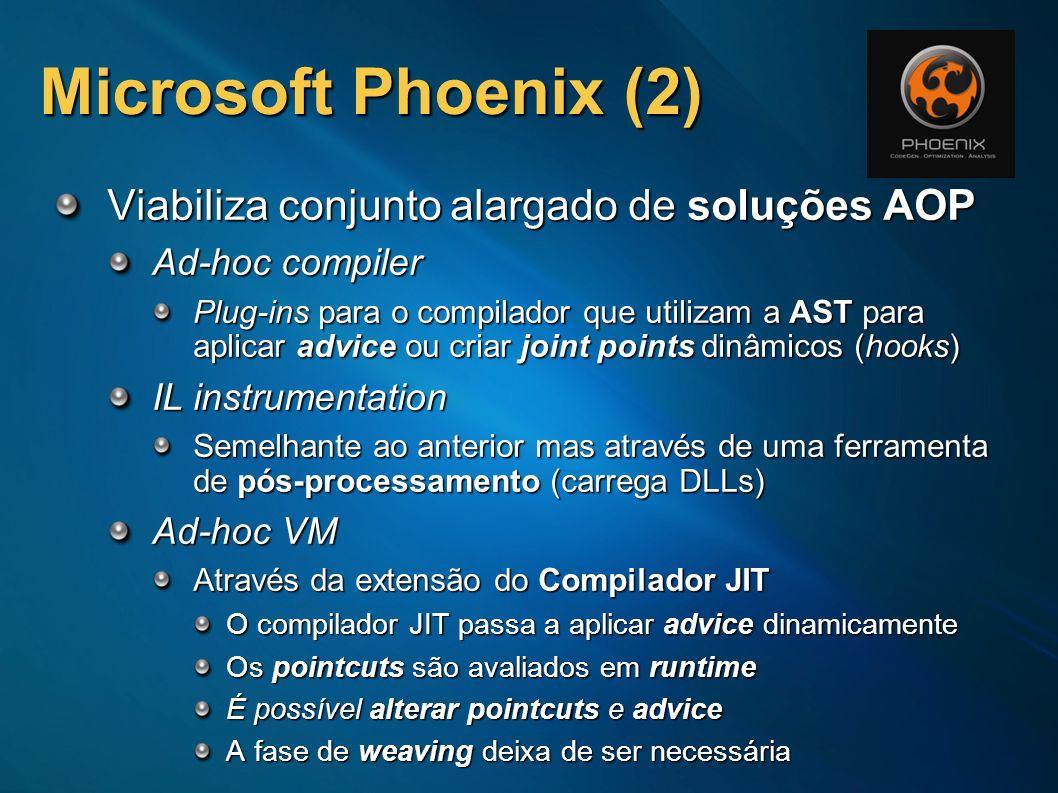 Microsoft Phoenix (2) Viabiliza conjunto alargado de soluções AOP