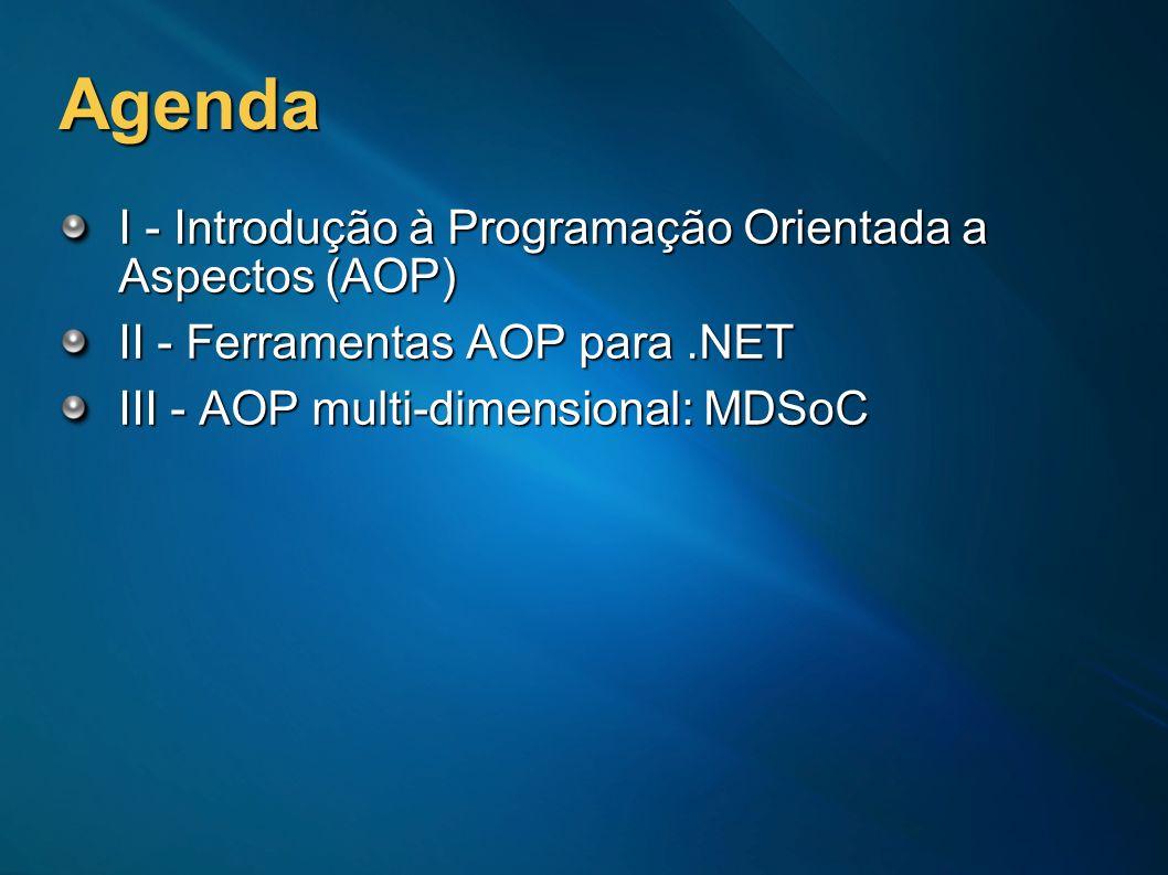 Agenda I - Introdução à Programação Orientada a Aspectos (AOP)