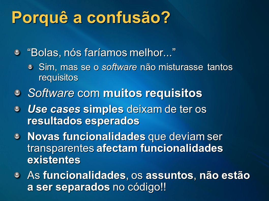 Porquê a confusão Software com muitos requisitos
