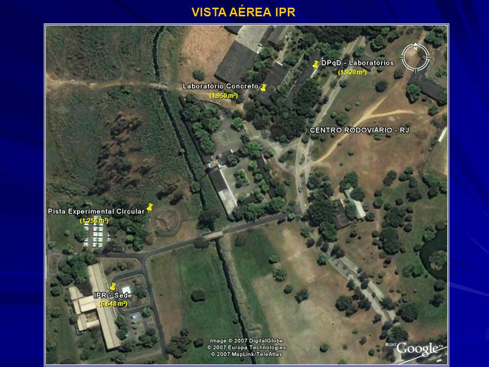VISTA AÉREA IPR (1.920 m2) (1.950 m2) (1.256 m2) (6.648 m2)