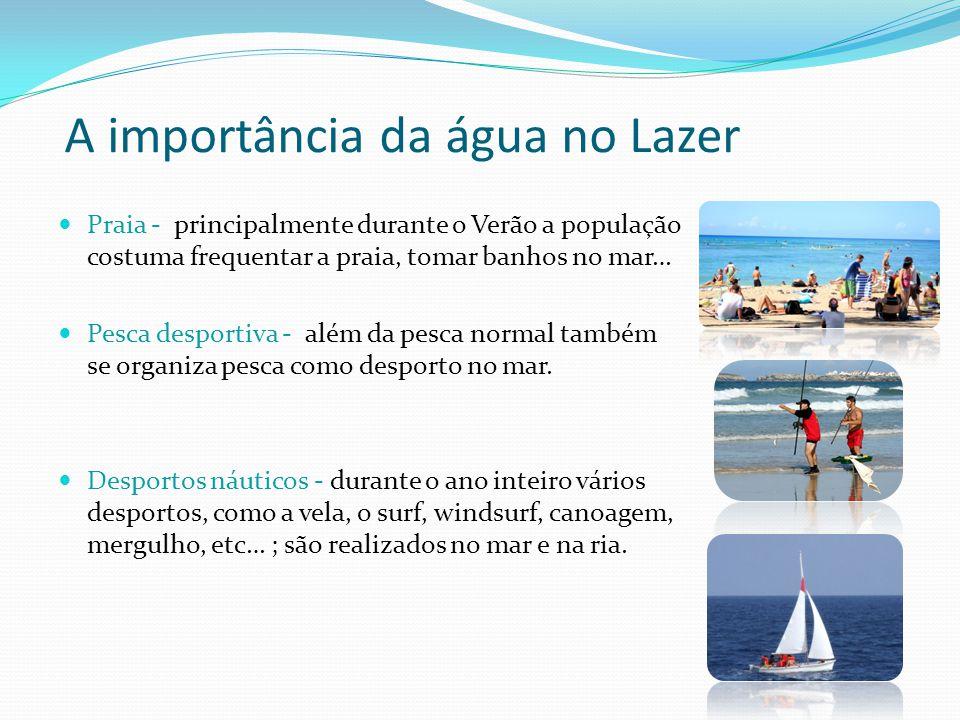 A importância da água no Lazer