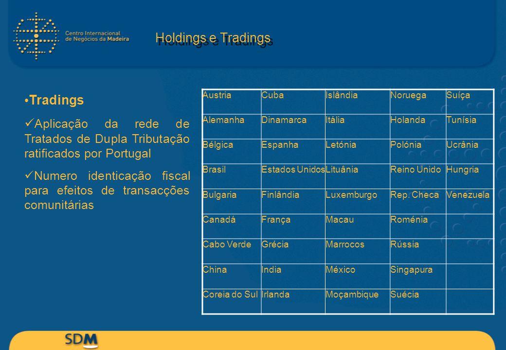 Holdings e Tradings Tradings