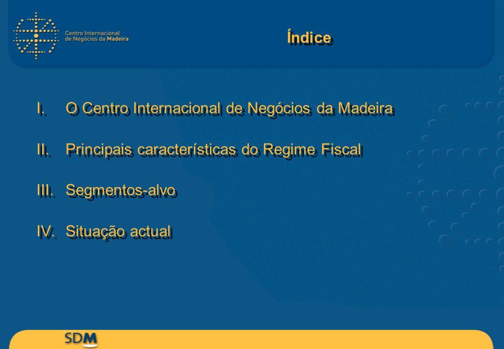 Índice O Centro Internacional de Negócios da Madeira. Principais características do Regime Fiscal.