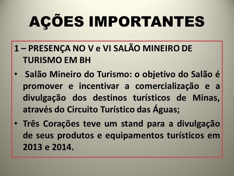 AÇÕES IMPORTANTES 1 – PRESENÇA NO V e VI SALÃO MINEIRO DE TURISMO EM BH.