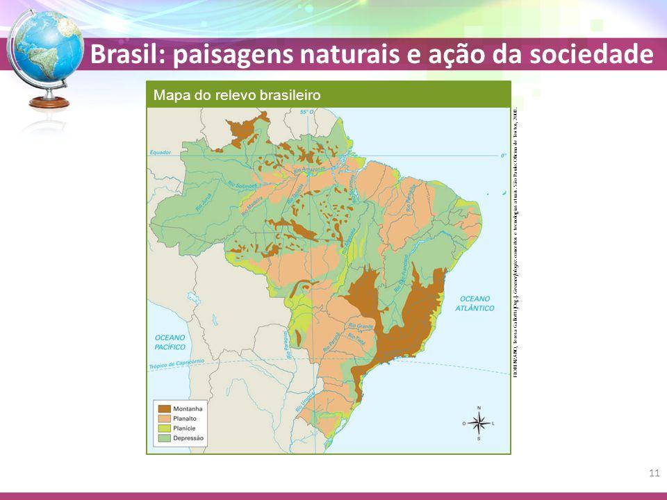 Mapa do relevo brasileiro