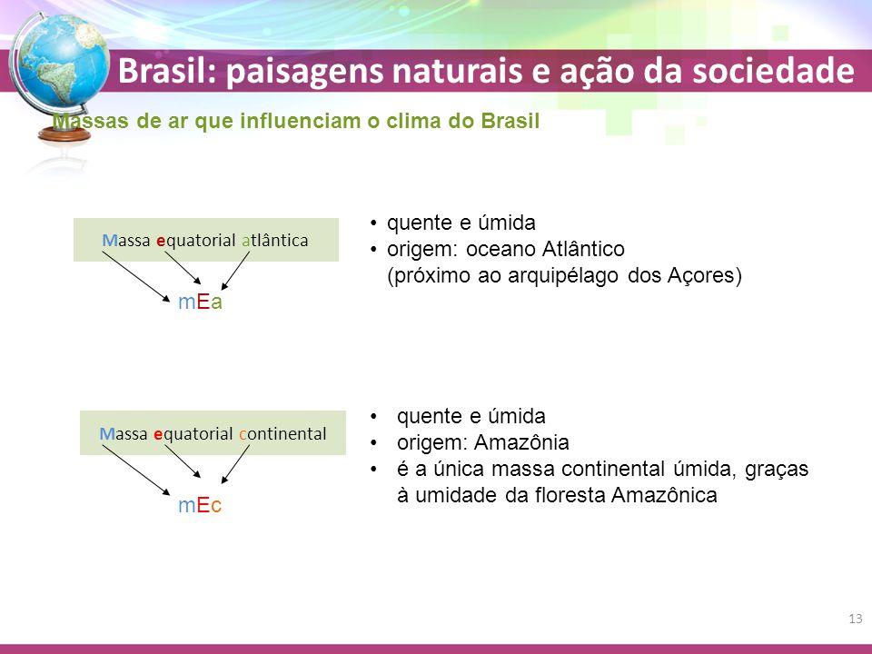 Massas de ar que influenciam o clima do Brasil