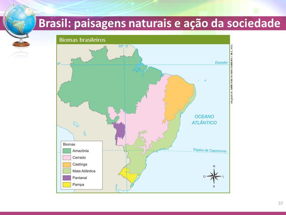Biomas brasileiros Adaptado de: MINISTÉRIO DO MEIO AMBIENTE e IBGE, 2011.