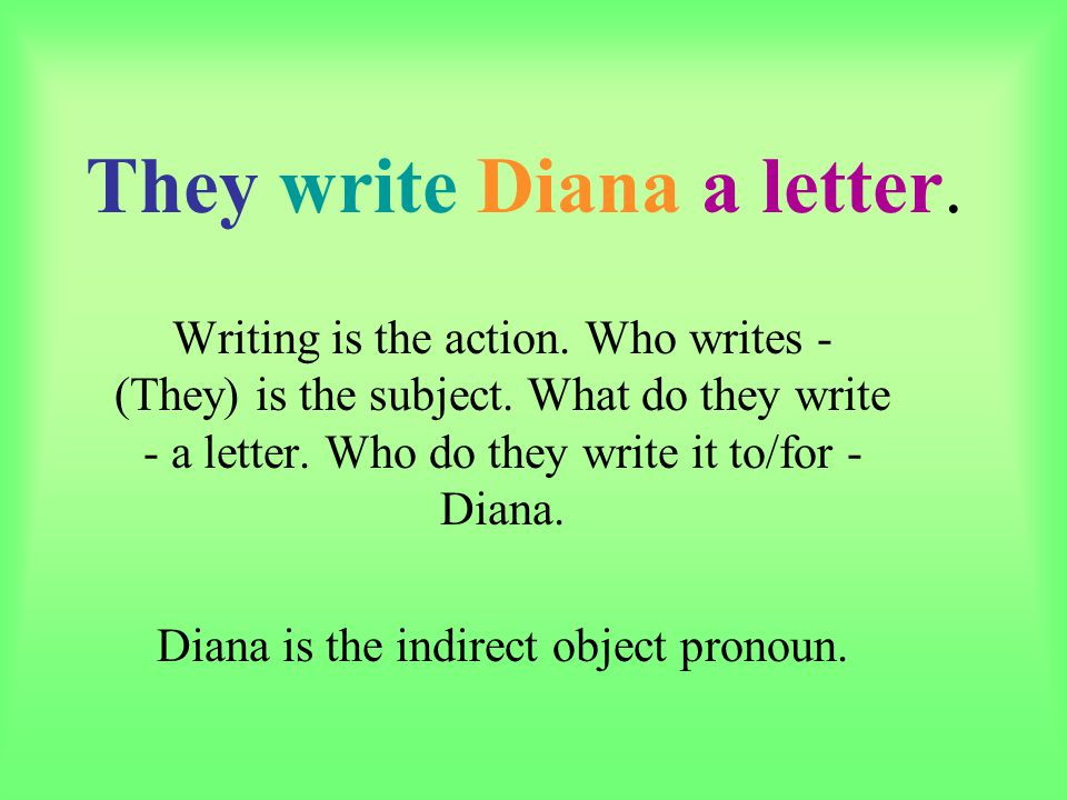 They write Diana a letter.