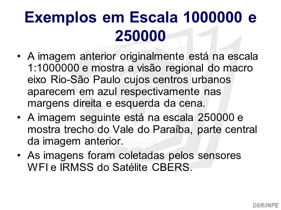 Exemplos em Escala 1000000 e 250000