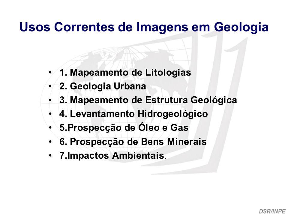 Usos Correntes de Imagens em Geologia