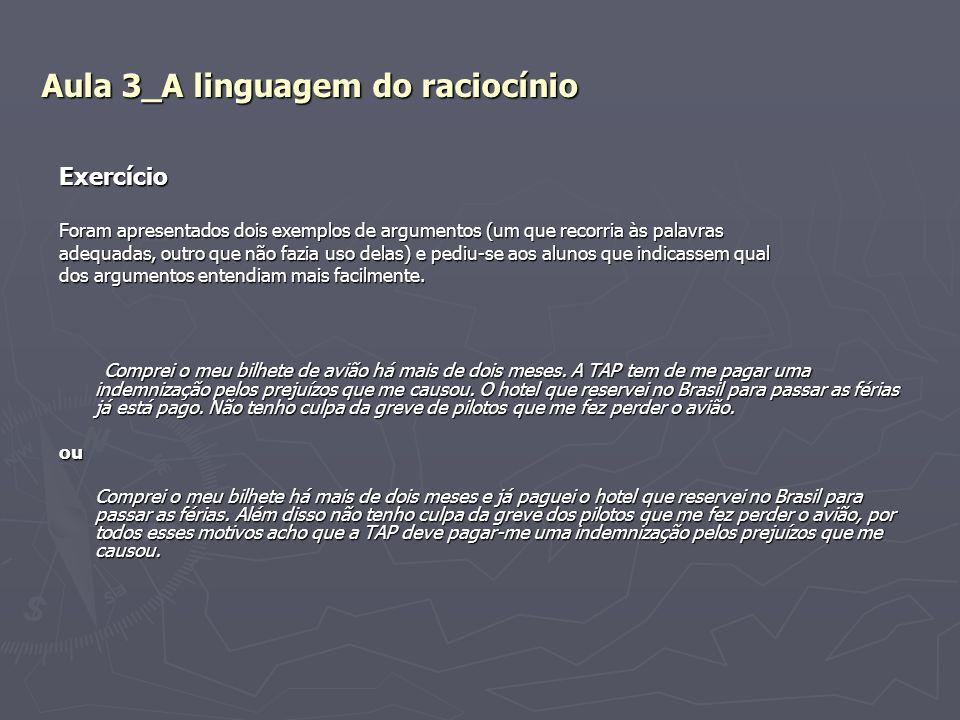 Aula 3_A linguagem do raciocínio