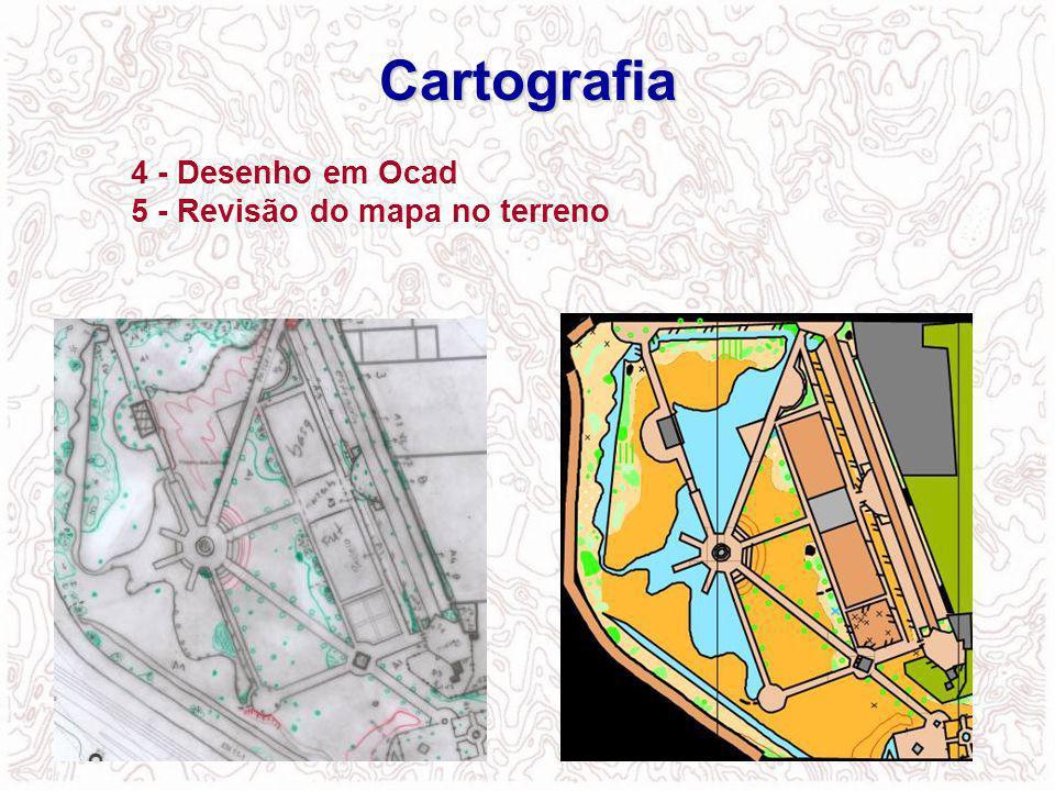 Cartografia 4 - Desenho em Ocad 5 - Revisão do mapa no terreno