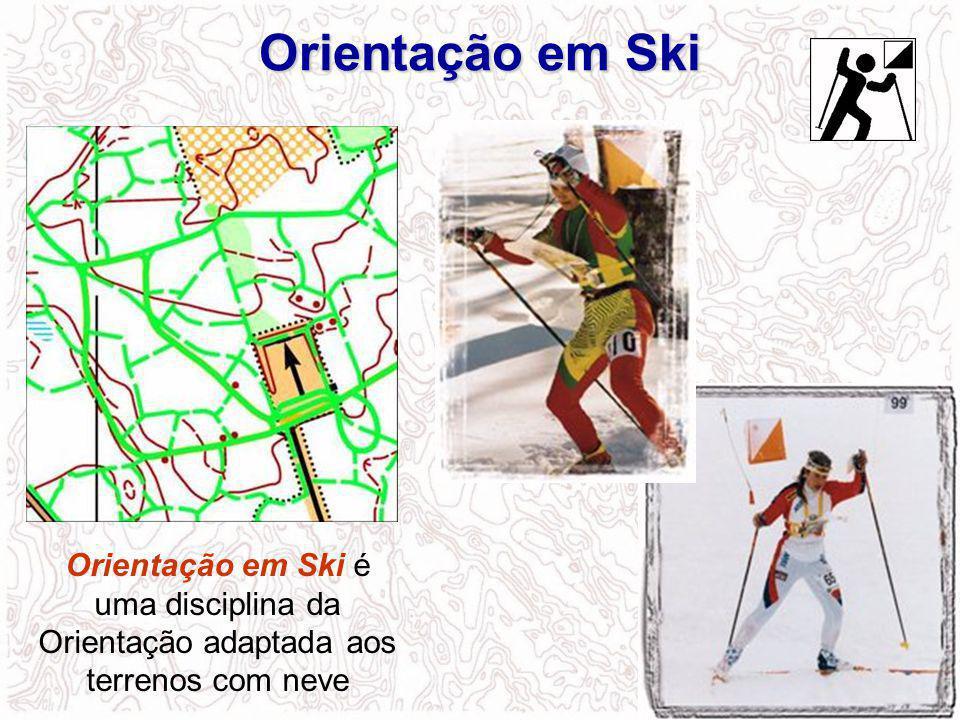 Orientação em Ski Orientação em Ski é uma disciplina da Orientação adaptada aos terrenos com neve