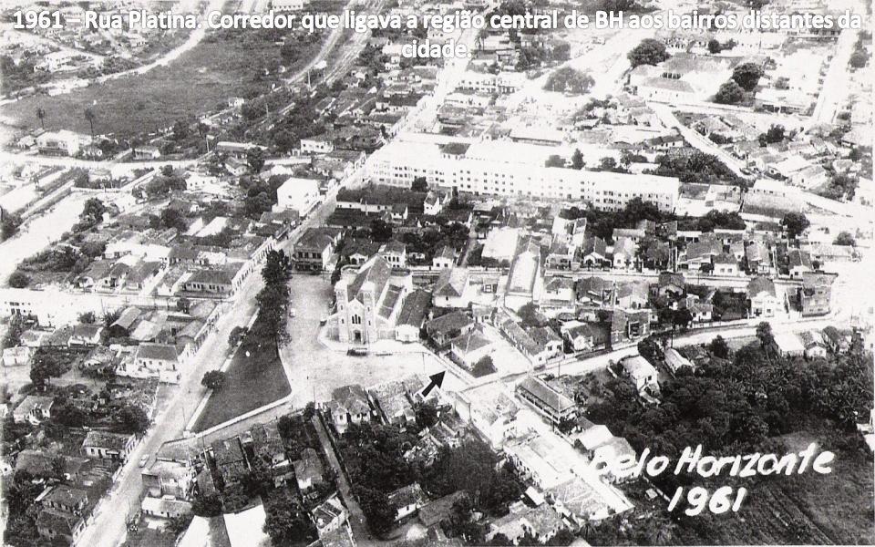 1961 – Rua Platina. Corredor que ligava a região central de BH aos bairros distantes da cidade.