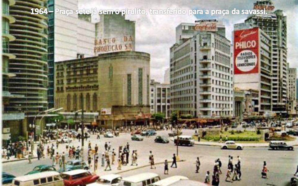 1964 – Praça sete já sem o pirulito, transferido para a praça da savassi.