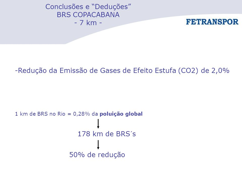 Conclusões e Deduções BRS COPACABANA - 7 km -