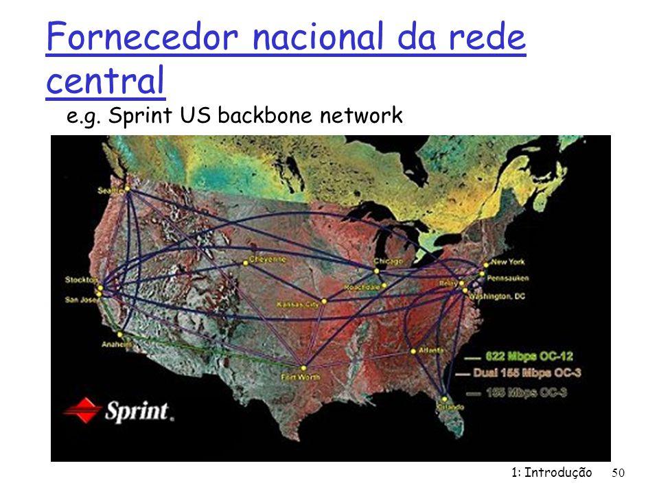 Fornecedor nacional da rede central