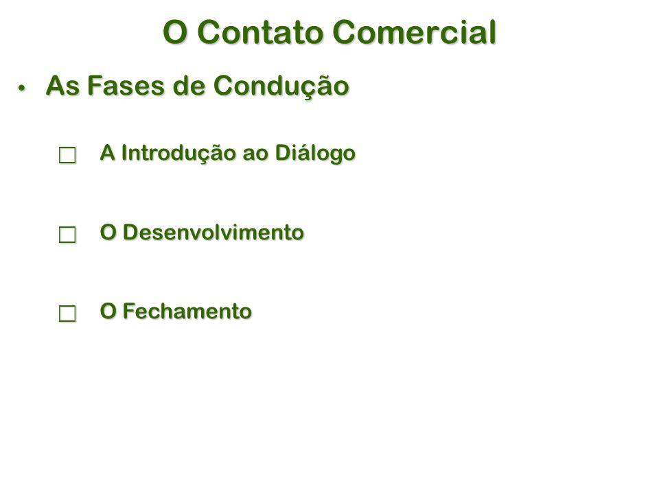 O Contato Comercial As Fases de Condução A Introdução ao Diálogo