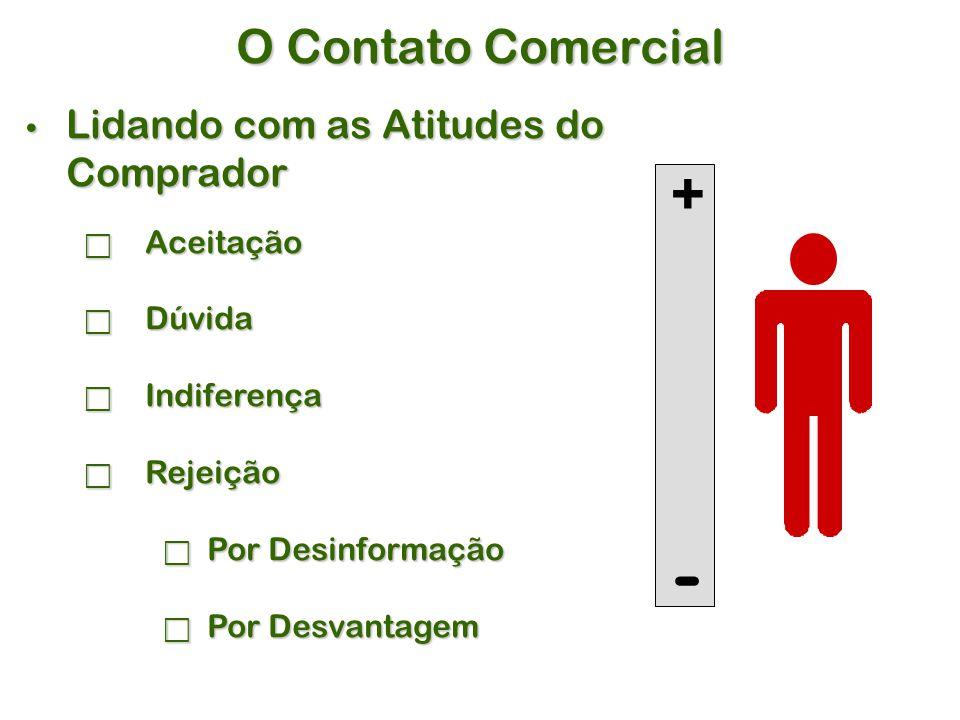 - + O Contato Comercial Lidando com as Atitudes do Comprador Aceitação