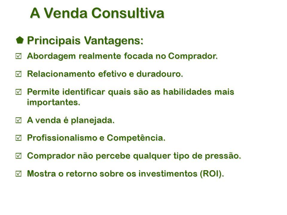 A Venda Consultiva Principais Vantagens: