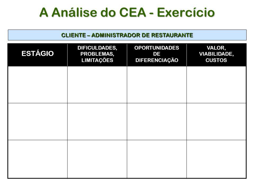 A Análise do CEA - Exercício