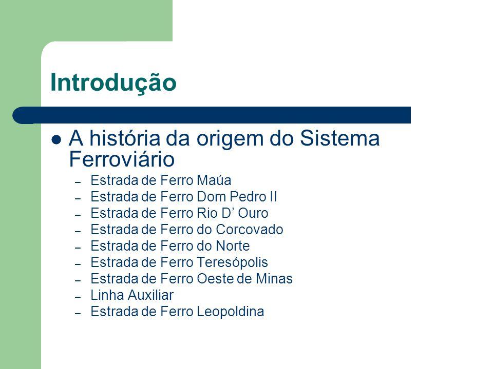 Introdução A história da origem do Sistema Ferroviário