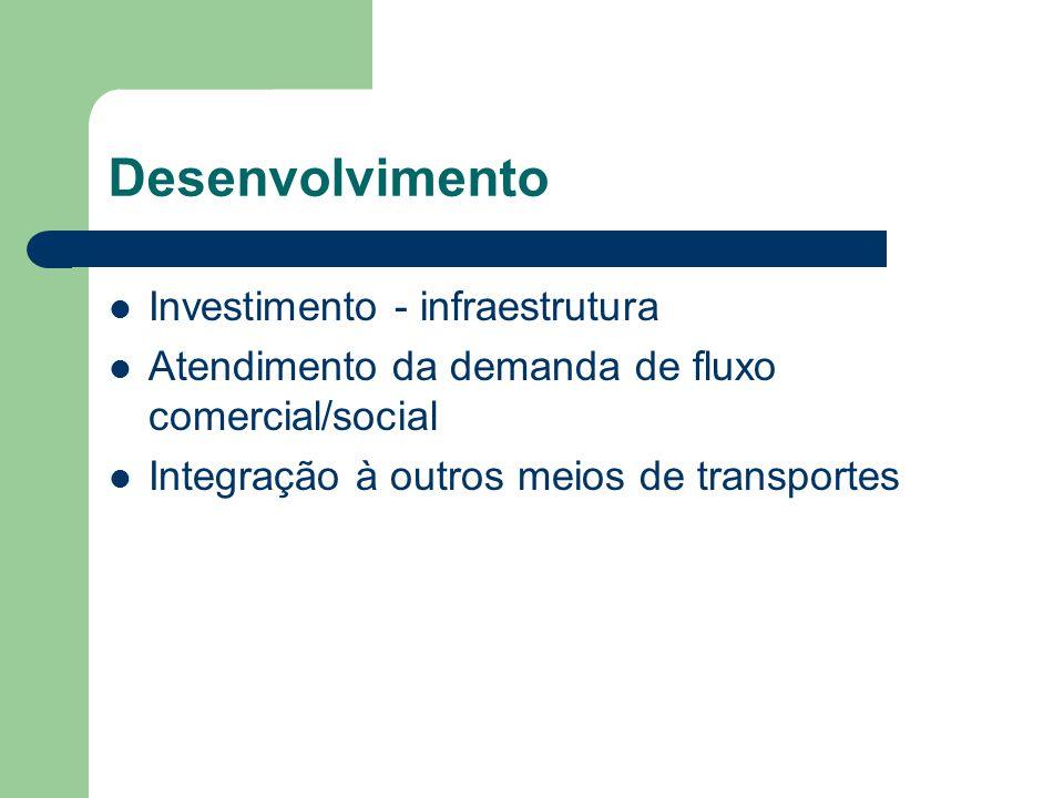 Desenvolvimento Investimento - infraestrutura