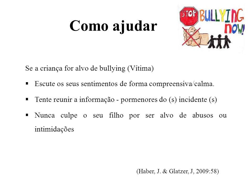 Como ajudar Se a criança for alvo de bullying (Vítima)