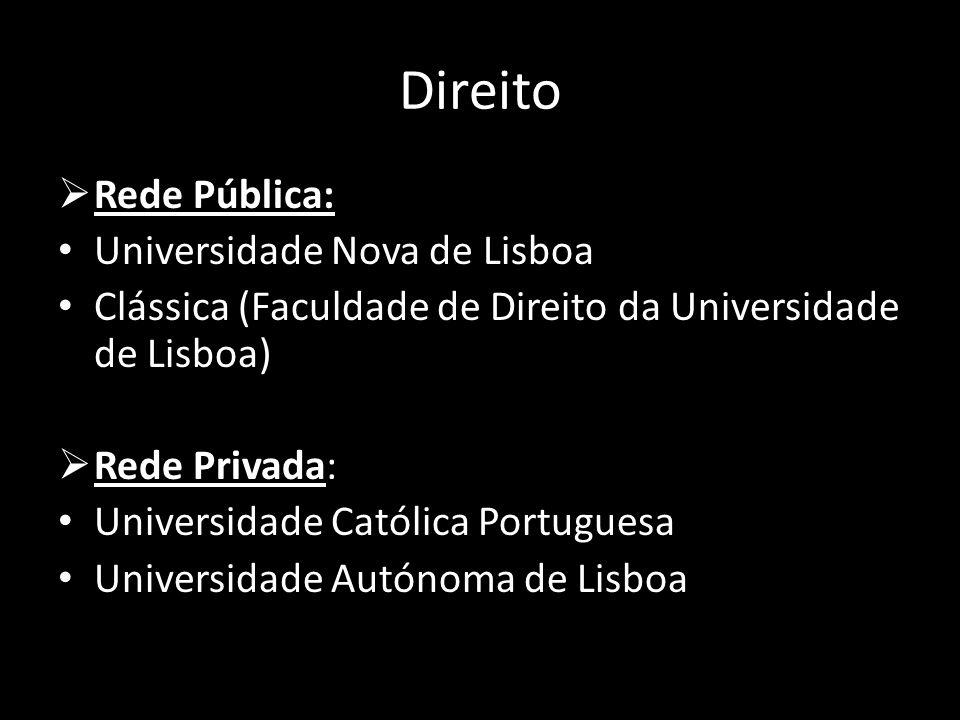 Direito Rede Pública: Universidade Nova de Lisboa