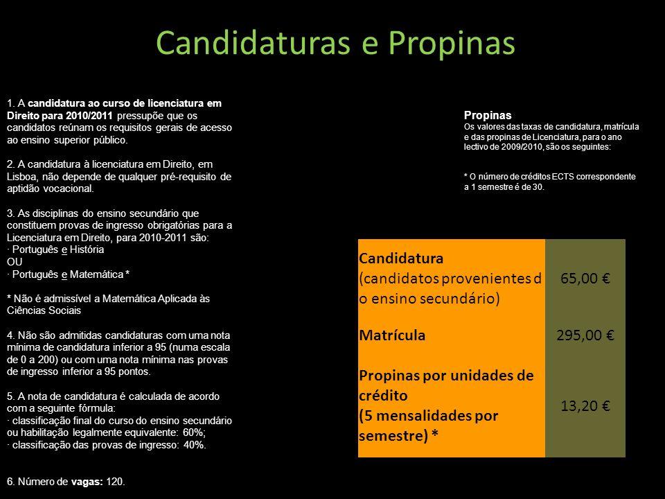 Candidaturas e Propinas