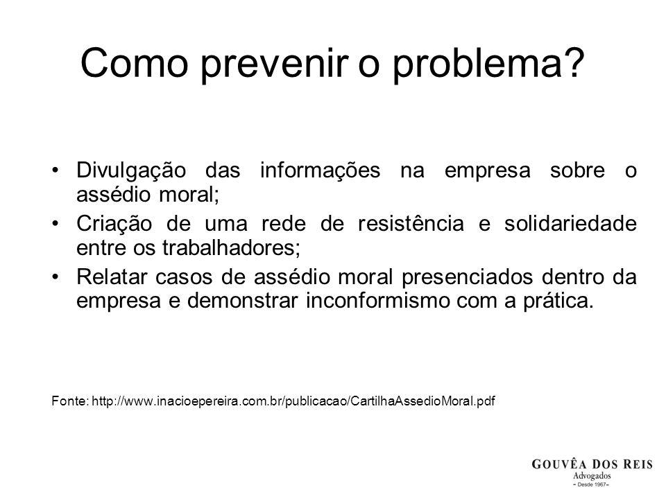 Como prevenir o problema