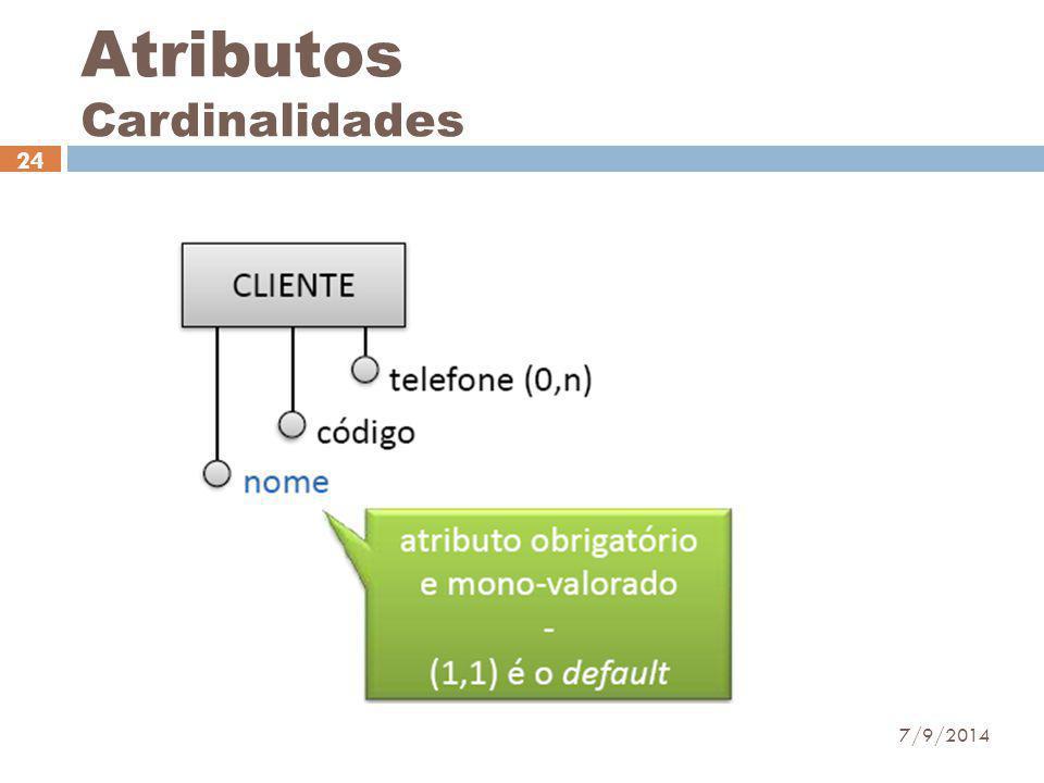 Atributos Cardinalidades