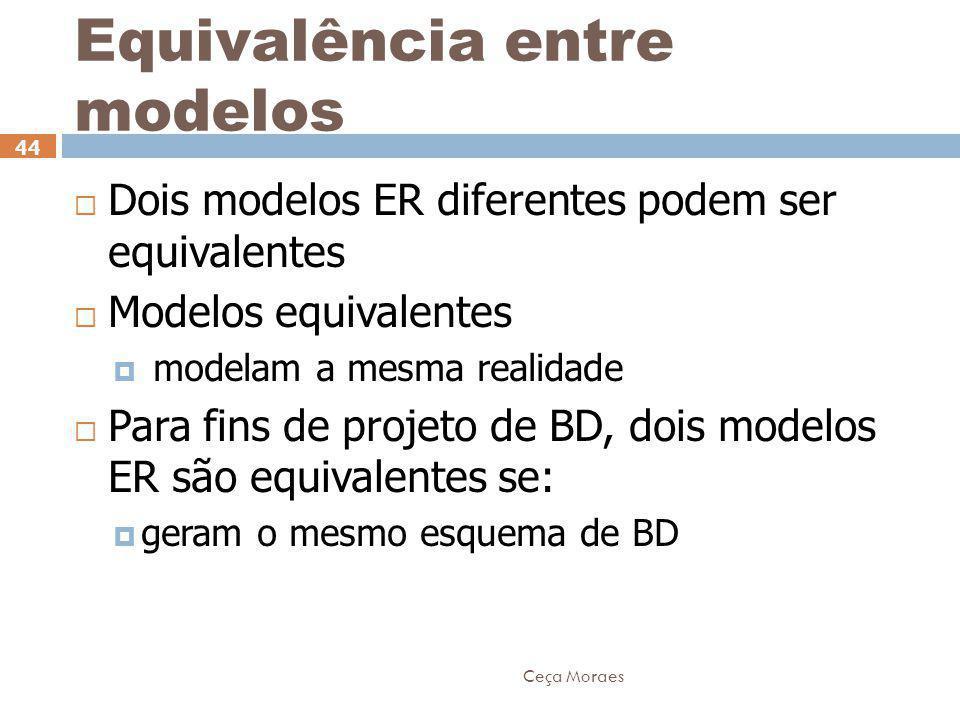 Equivalência entre modelos