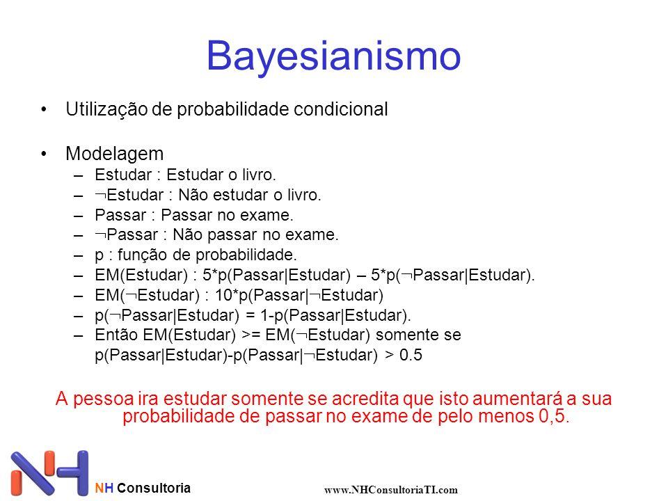 Bayesianismo Utilização de probabilidade condicional Modelagem