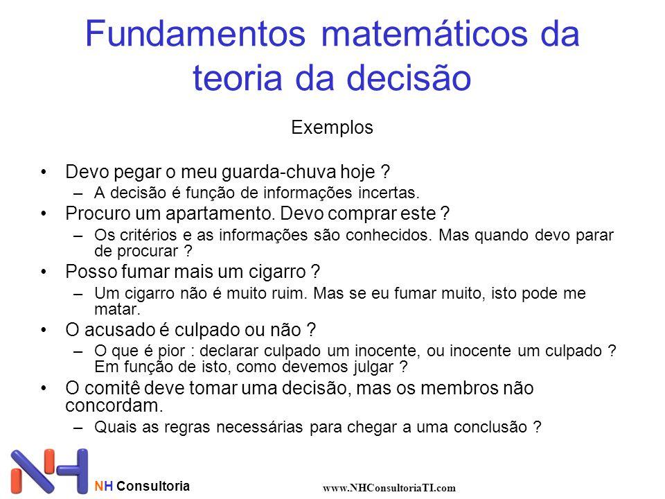 Fundamentos matemáticos da teoria da decisão