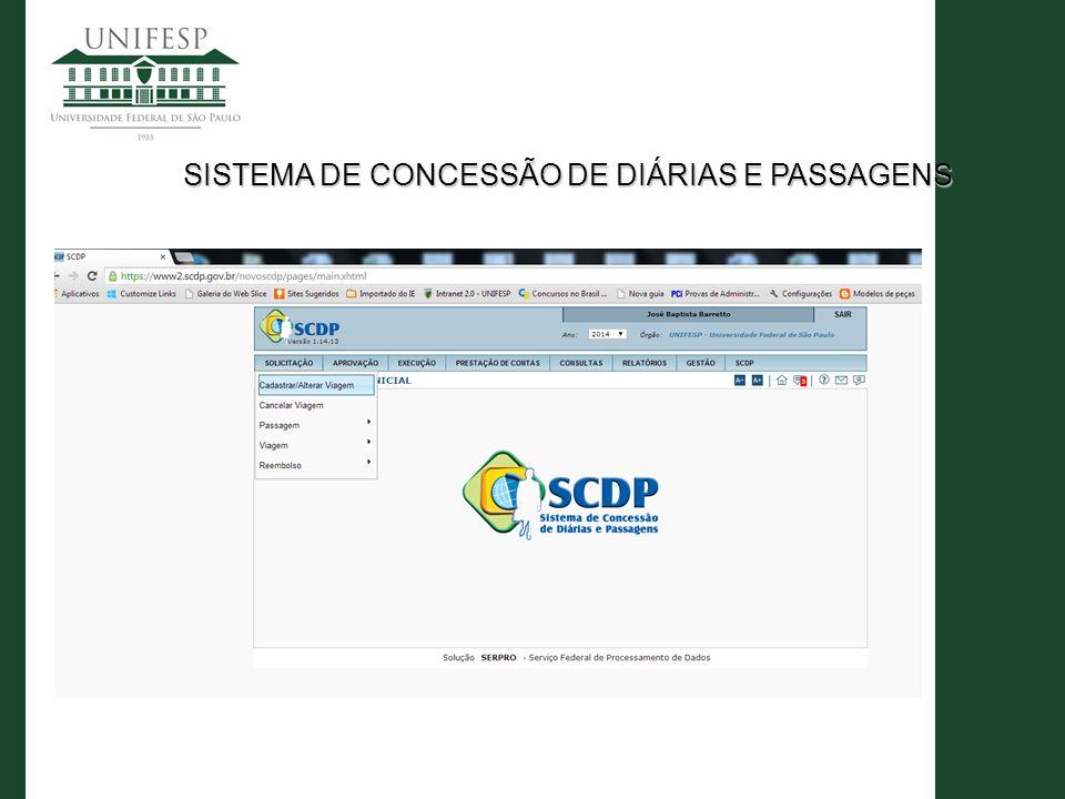 SISTEMA DE CONCESSÃO DE DIÁRIAS E PASSAGENS