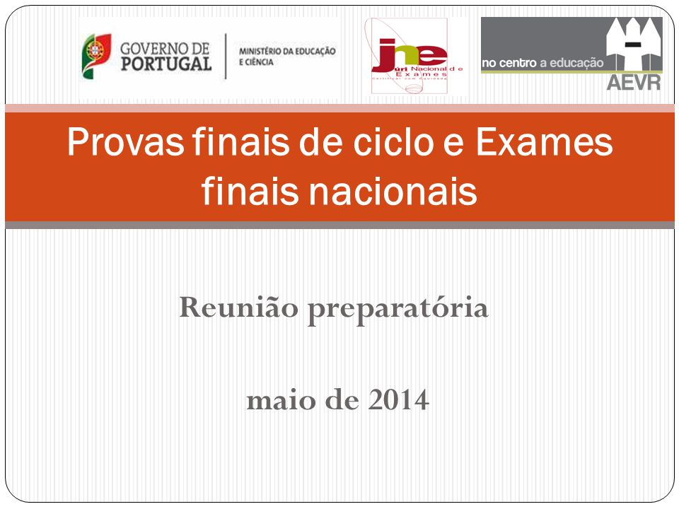 Provas finais de ciclo e Exames finais nacionais
