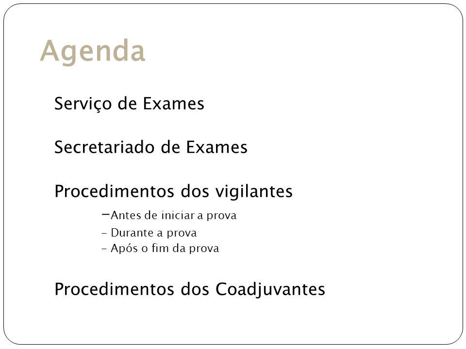 Agenda Serviço de Exames Secretariado de Exames