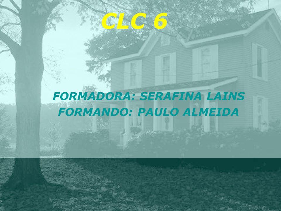 FORMADORA: SERAFINA LAINS FORMANDO: PAULO ALMEIDA