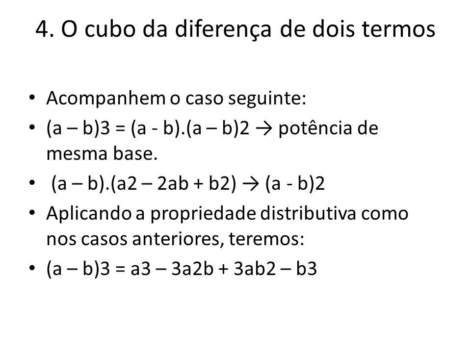 4. O cubo da diferença de dois termos
