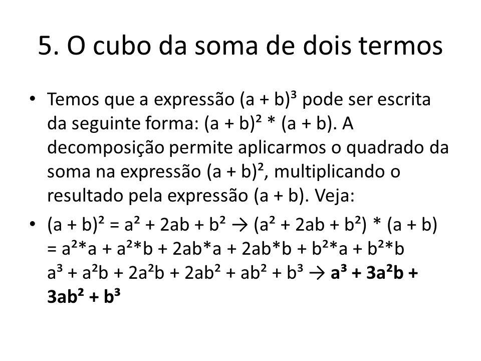 5. O cubo da soma de dois termos