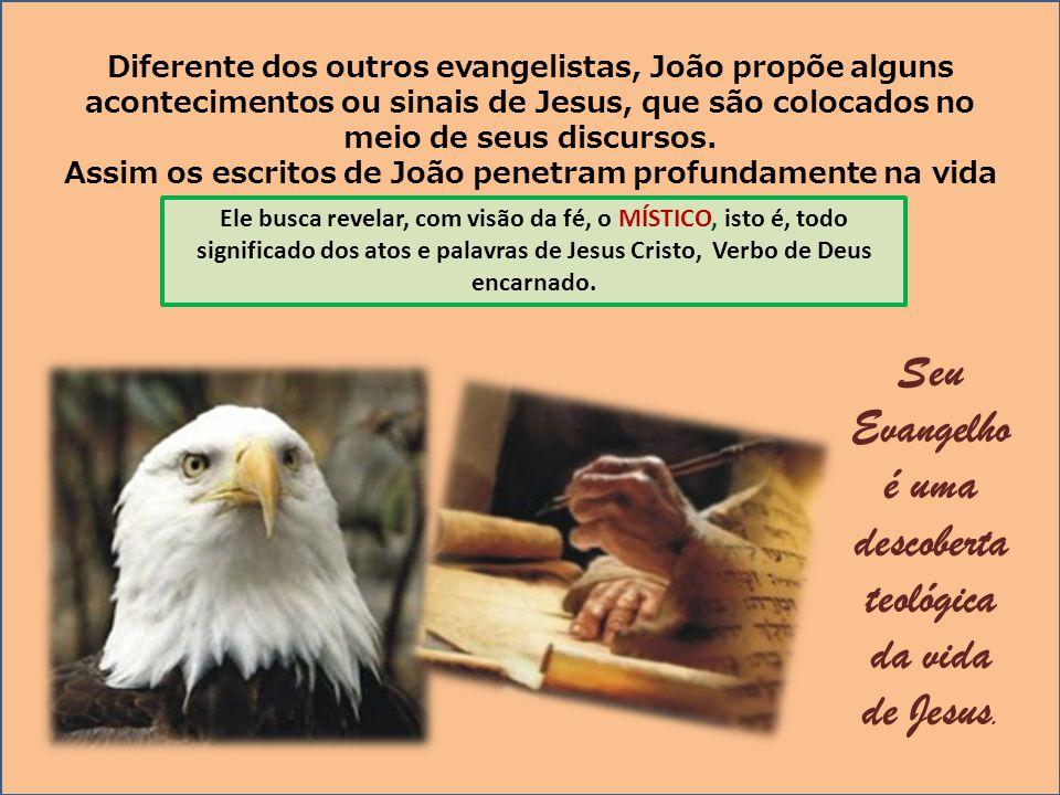 Seu Evangelho é uma descoberta teológica da vida de Jesus.