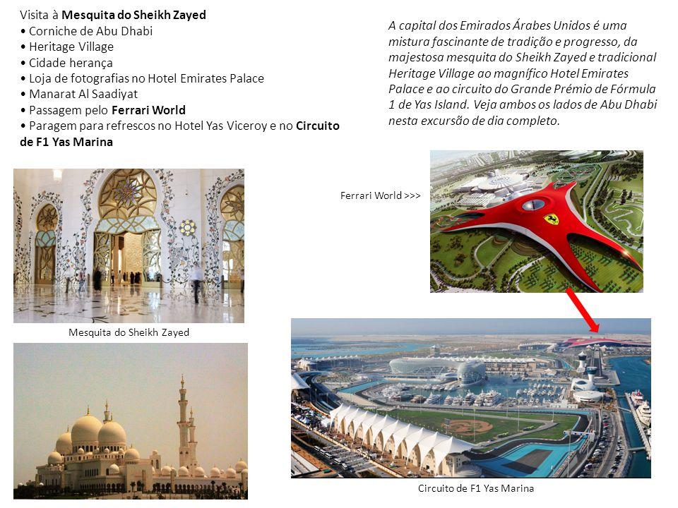 Visita à Mesquita do Sheikh Zayed • Corniche de Abu Dhabi