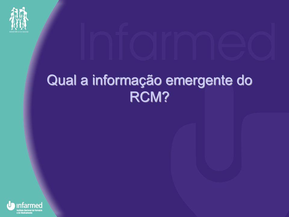Qual a informação emergente do RCM