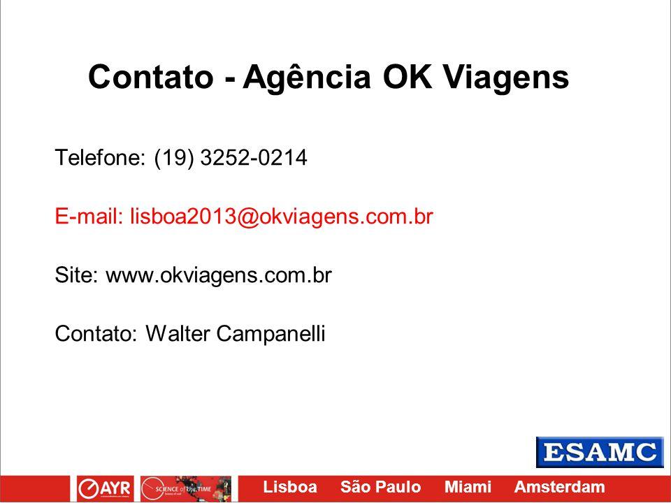 Contato - Agência OK Viagens