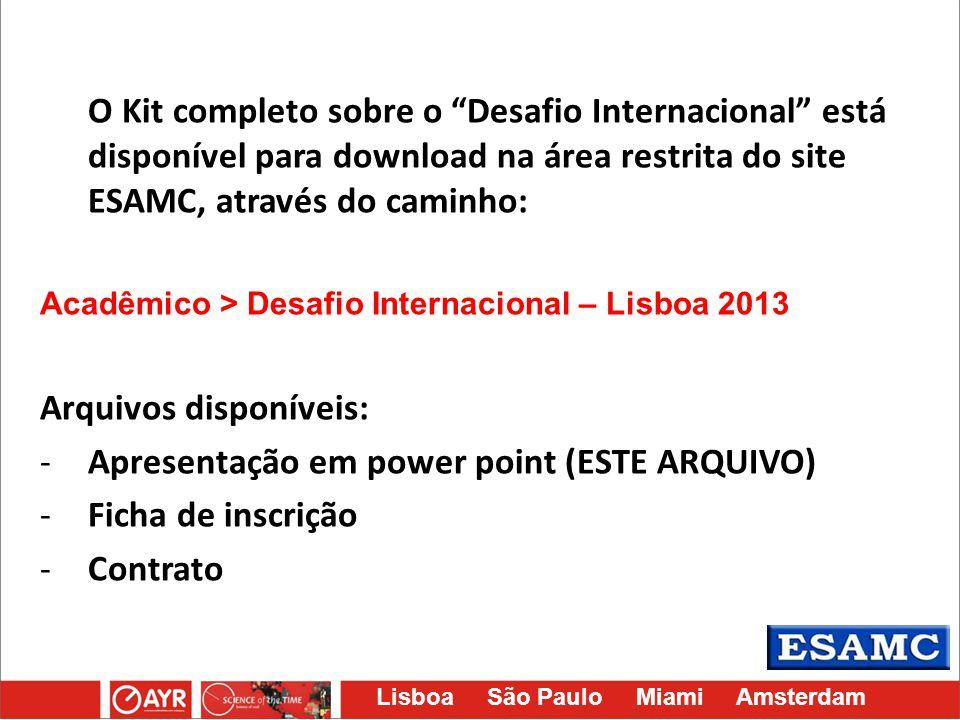 Arquivos disponíveis: Apresentação em power point (ESTE ARQUIVO)