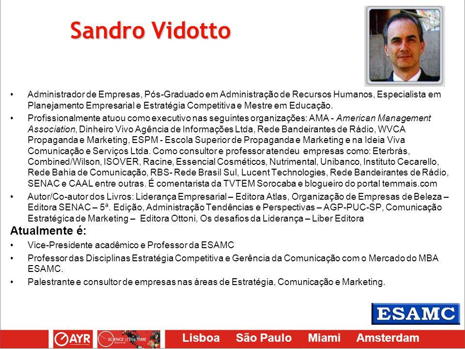 Sandro Vidotto Atualmente é:
