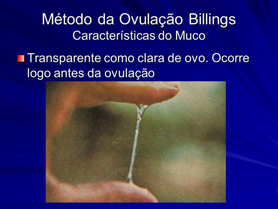 Método da Ovulação Billings Características do Muco