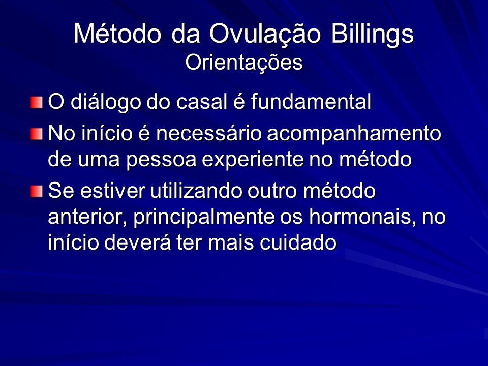 Método da Ovulação Billings Orientações